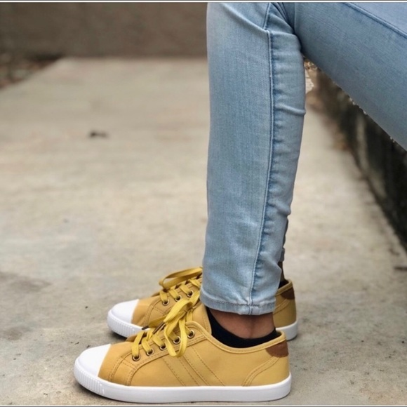 TOP Moda Shoes | Mustard Canvas Lace Up